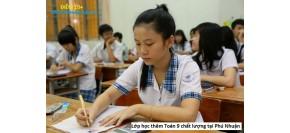 Lớp học thêm Toán 9 quận Gò Vấp, Quận Tân Phú, Quận Phú Nhuận