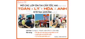 Ôn thi cấp tốc HK1 Toán, Lý, Hoá, Anh