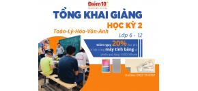 Tổng khai giảng các lớp bồi dưỡng Toán, Lý, Hoá, Văn, Anh học kì 2