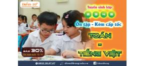 Ôn tập, học kèm cấp tốc Toán, Tiếng Việt khối tiểu học