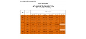 Lịch phát sóng Chương trình Dạy học trên truyền hình cho học sinh các cấp học từ ngày 13-18/4
